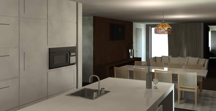 Casa Ribela: Cozinhas  por OPUS - MATER