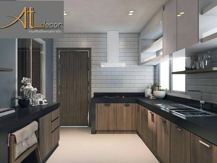 Renovate dinning&kitchen room:   by หจก.แอทเดคคอร์ หาดใหญ่