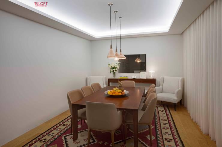 Vista geral sala de jantar: Salas de jantar  por B.loft
