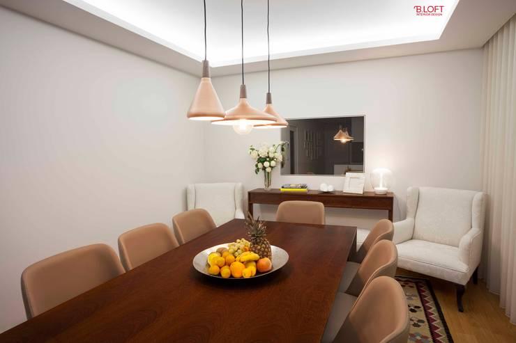 Pormenor decoração sala de jantar: Salas de jantar  por B.loft