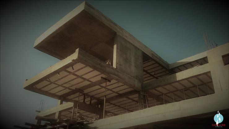 Visualización de estructura - : Casas de estilo  por CASTELLINO ARQUITECTOS (+)