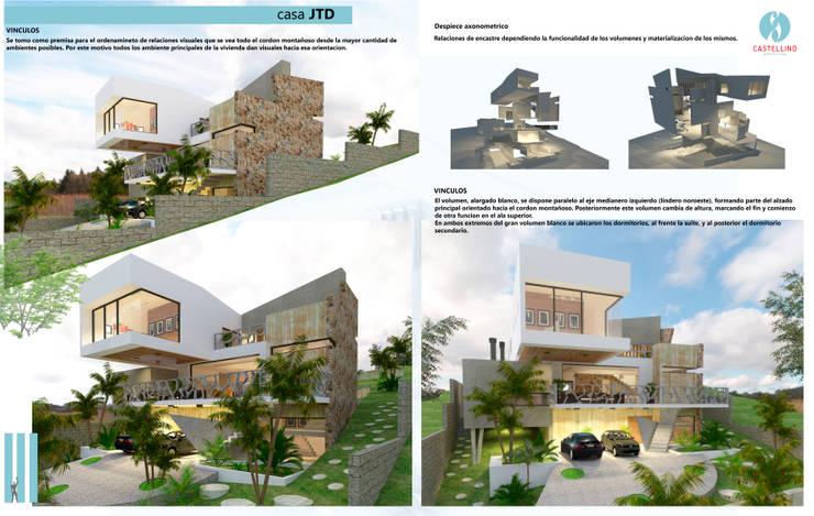 Vínculos - Despieces Axonometricos: Casas de estilo  por CASTELLINO ARQUITECTOS (+)