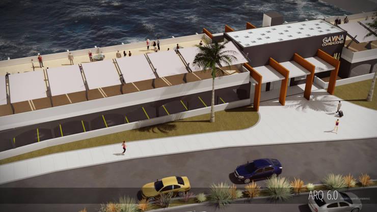 Remodelación Centro Convenciones Hotel Gavina Iquique: Centros para conferencias de estilo  por Arq6.0