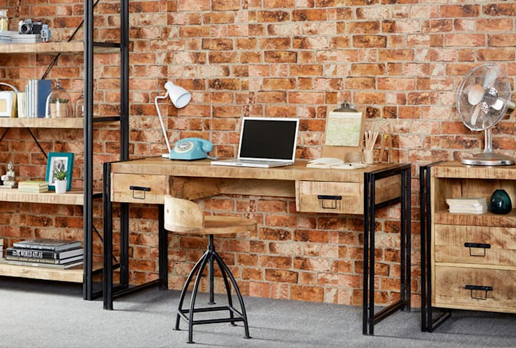 Cosmo Industrial Desk:  Office spaces & stores  by Industasia