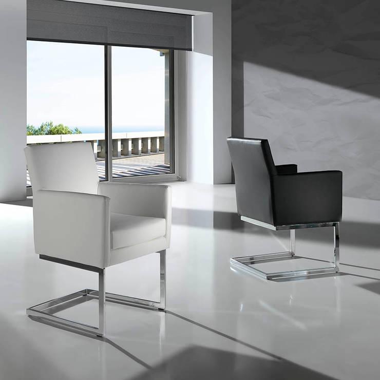 Cadeiras Chairs www.intense-mobiliario.com  RHONE http://intense-mobiliario.com/pt/cadeiras/517-cadeirao-rhone.html: Sala de jantar  por Intense mobiliário e interiores;