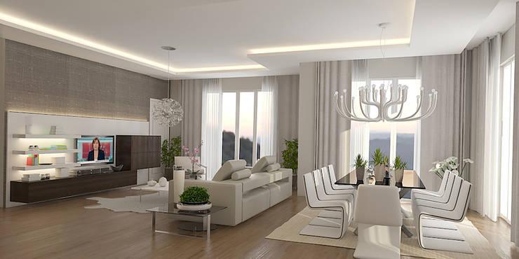 Pronil – Yaşama Mekanı:  tarz Oturma Odası, Modern İşlenmiş Ahşap Şeffaf
