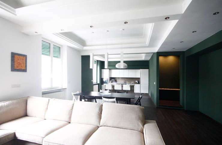 minimalistic Living room by Andrea Orioli