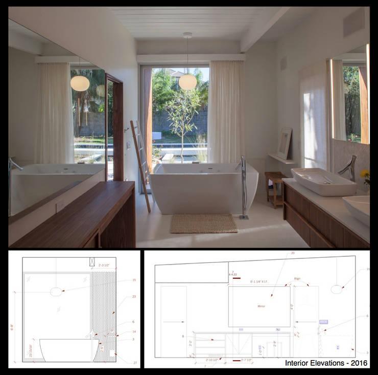 Emerald Street Residence, New Orleans:  Bathroom by studioWTA