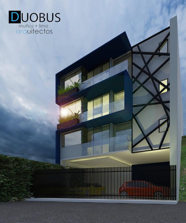 EXTERIOR: Casas de estilo  por DUOBUS M + L arquitectos