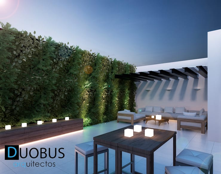 roof garden.: Terrazas de estilo  por DUOBUS M + L arquitectos