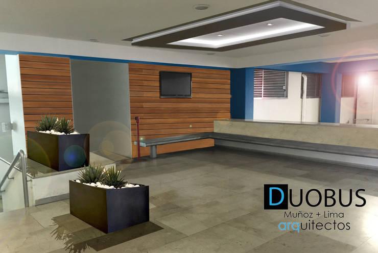 acceso estacionamiento.: Garajes de estilo  por DUOBUS M + L arquitectos