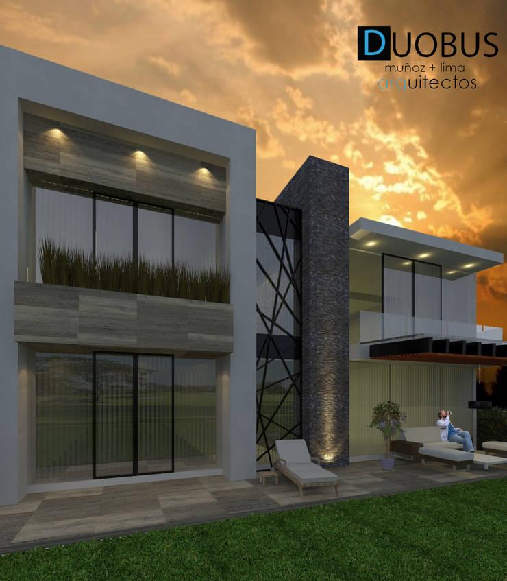 POSTERIOR: Casas de estilo  por DUOBUS M + L arquitectos