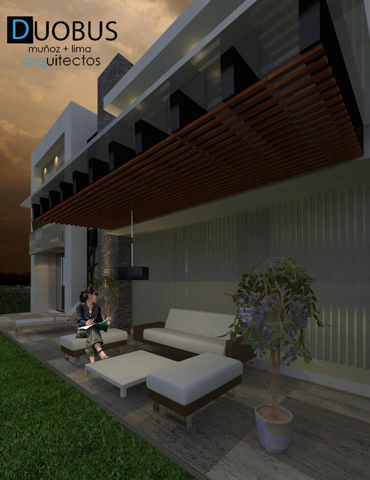 TERRAZA: Terrazas de estilo  por DUOBUS M + L arquitectos