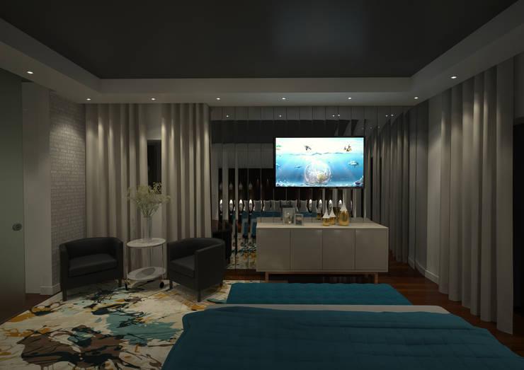Master Suite: Quartos  por Tiago Martins - 3D