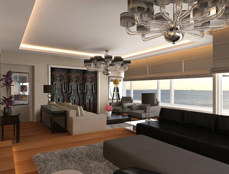 Pronil – Yaşama Mekanı: modern tarz Oturma Odası