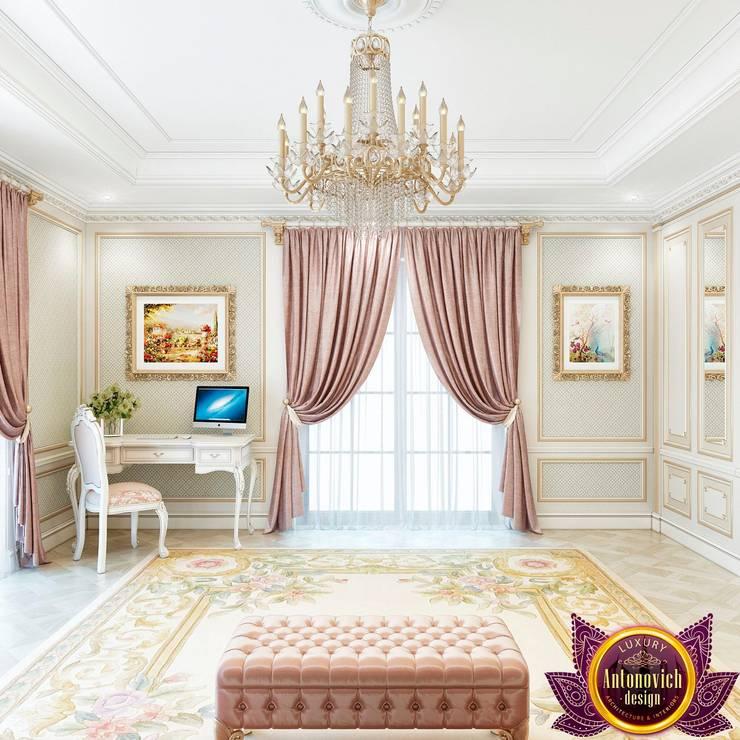 غرفة نوم تنفيذ Luxury Antonovich Design