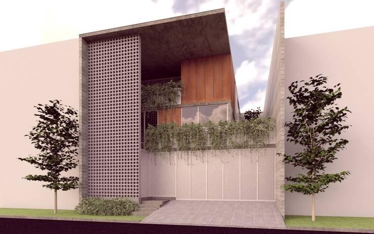 Casa Orta. : Casas de estilo  por Lozano Arquitectos
