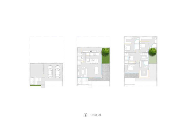 Casa Orta:  de estilo  por Lozano Arquitectos