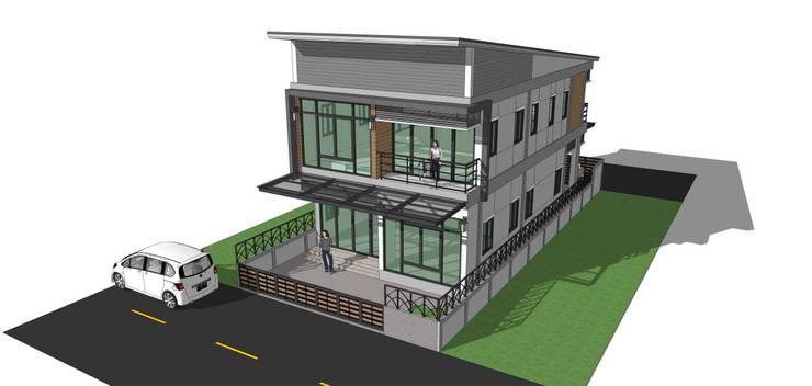 """โครงการบ้าน 2 ชั้น อ.จักราช จ.นครราชสีมา """"แค่ลูกค้ายิ้มเราก็ดีใจแล้ว"""":   by บ้านสถาปนิก"""