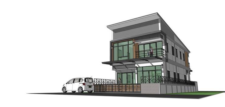 โครงการบ้าน 2 ชั้น อ.จักราช จ.นครราชสีมา <q>แค่ลูกค้ายิ้มเราก็ดีใจแล้ว</q>:   by บ้านสถาปนิก