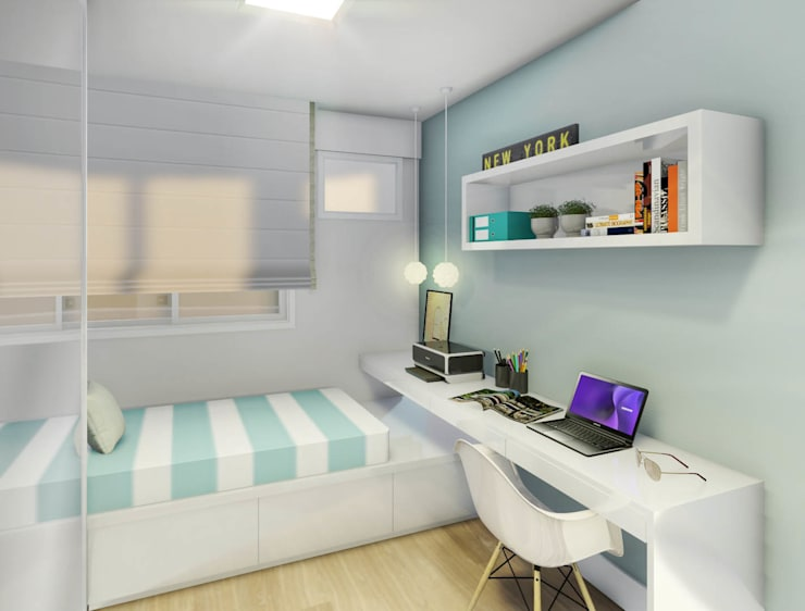 غرفة نوم تنفيذ JS Interiores