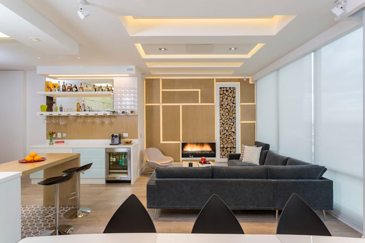 Living room by Bloque B Arquitectos