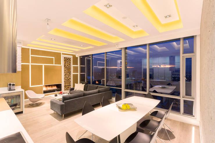 Apto Cr 2 - Cll 69: Comedores de estilo moderno por Bloque B Arquitectos