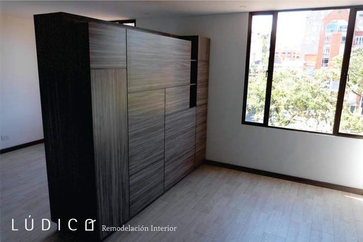Remodelación Apartamento Chapinero: Salas de estilo minimalista por Lúdico Arquitectos