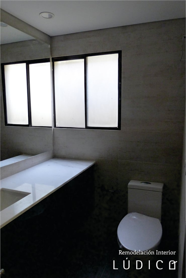 Apartamento Ciudad Salitre – Bogotá: Baños de estilo  por Lúdico Arquitectos, Minimalista