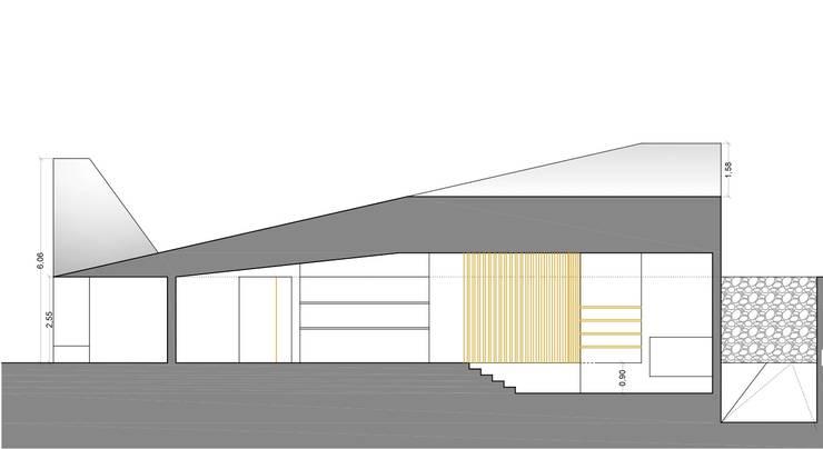 Corte longitudinal: Casas de estilo  por jesus rubio arquitectos