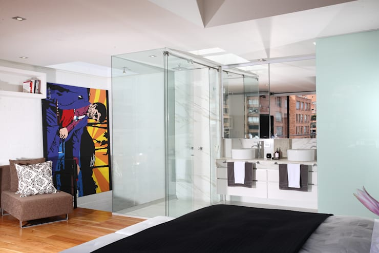 Baños de estilo  por Bloque B Arquitectos