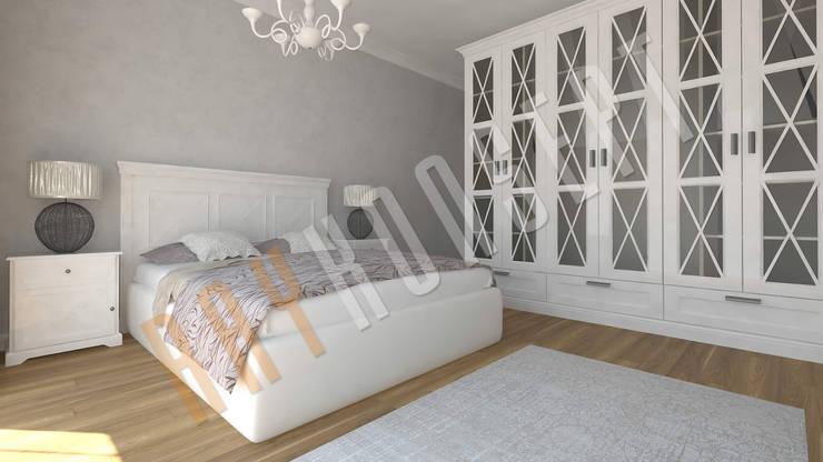 RayKonsept – Beyaz Kapaklı Yatak Odası : modern tarz , Modern
