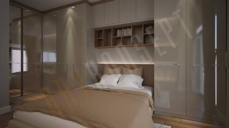 RayKonsept – Kahverengi Yatak Odası Tasarımı: modern tarz , Modern
