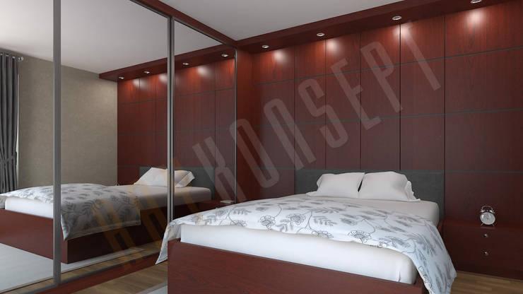 RayKonsept – Ayna Kapak Yatak Odası Tasarımı: modern tarz , Modern