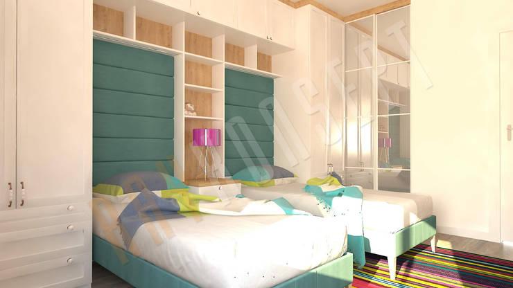 RayKonsept – Yeşil Yatak Odası Tasarımı: modern tarz , Modern