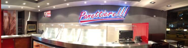 Panettiere Cr 15 – Cll 92: Locales gastronómicos de estilo  por Bloque B Arquitectos