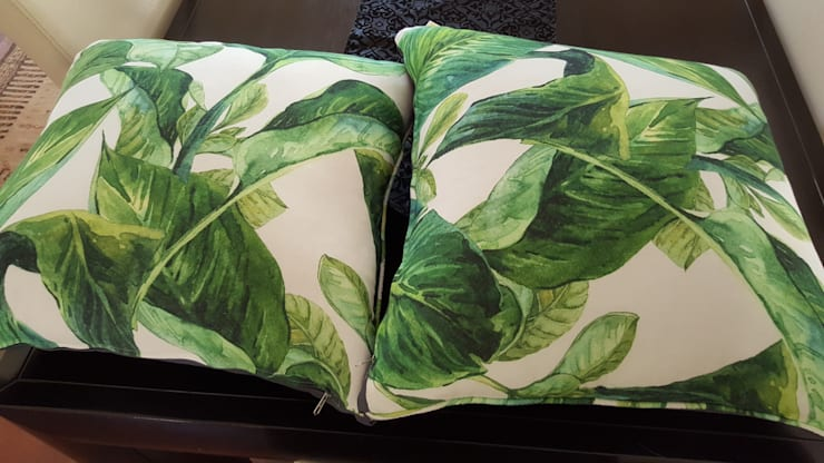Guest Bedroom cushions:  Bedroom by SOJE Interior, Design and Decor PTY (Ltd)