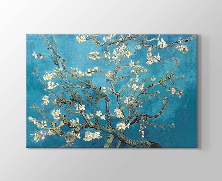 Çiçek açan badem ağacı kanvas tablosu:  de estilo  por Tablohane.com