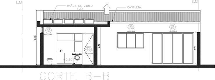 Showroom y Quincho:  de estilo  por VI Arquitectura & Dis. Interior,Moderno