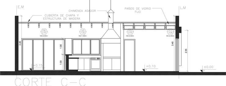 Showroom y Quincho:  de estilo  por VI Arquitectura & Dis. Interior