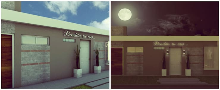 Fachada: Casas de estilo  por VI Arquitectura & Dis. Interior