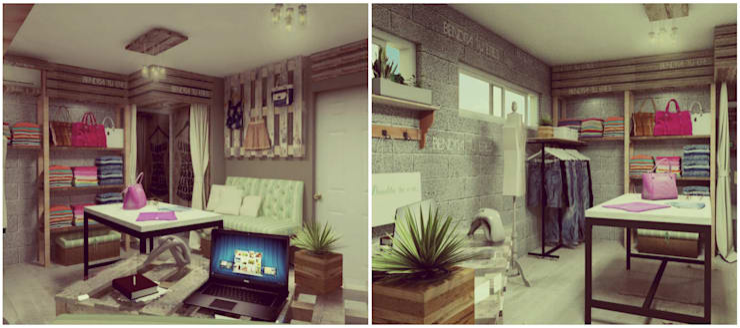 Showroom: Vestidores y placares de estilo  por VI Arquitectura & Dis. Interior