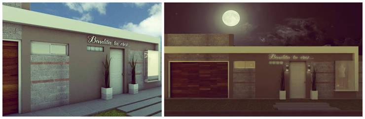 Showroom y Quincho: Casas de estilo  por VI Arquitectura & Dis. Interior