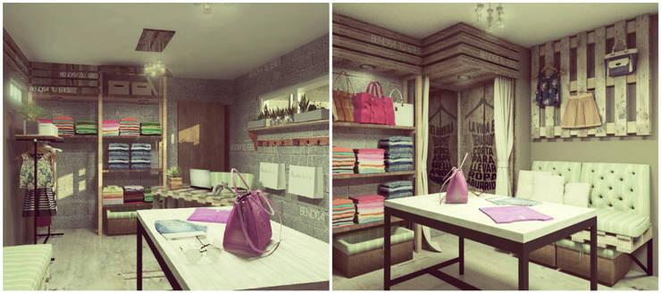 Showroom: Vestidores y placares de estilo  por VI Arquitectura & Dis. Interior,Moderno