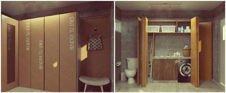 Lavadero / Vestidor: Vestidores y placares de estilo  por VI Arquitectura & Dis. Interior