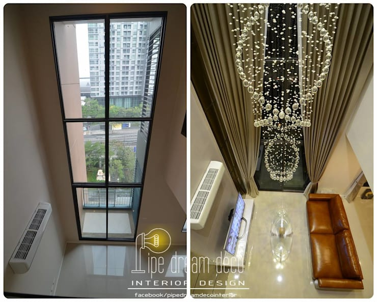Interior construction Project - Villa Asoke Condominium:   by pipedreamdeco