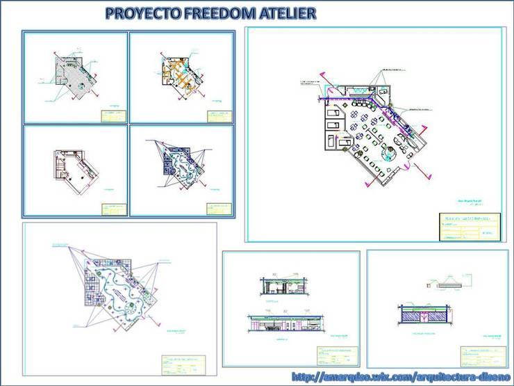 FREEDOM ATELIER:  de estilo  por A.M. ARQUITECTURA +DISEÑO