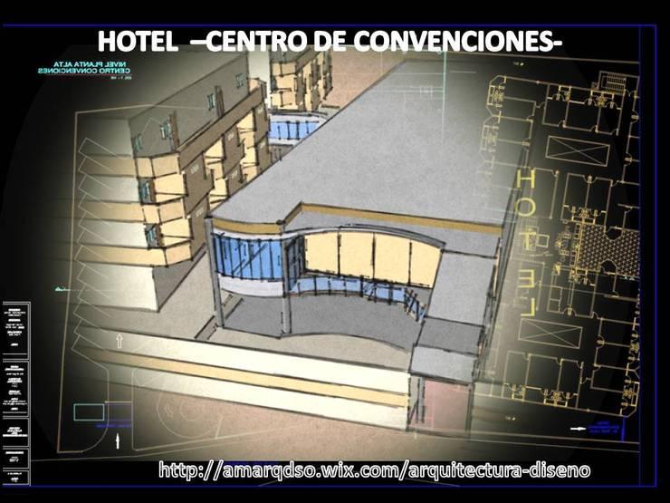 CENTRO DE CONVENCIONES:  de estilo  por A.M. ARQUITECTURA +DISEÑO