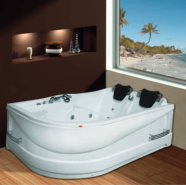 Yapıes Banyo – 170x120 Çiftkisilik Jakuzi SAĞ : modern tarz , Modern Doğal Elyaf Bej