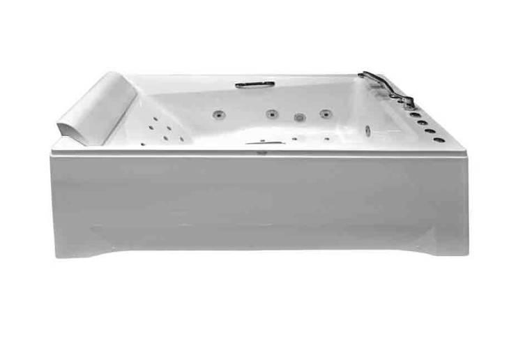Yapıes Banyo – 185x120 Çift kişilik jakuzi: modern tarz , Modern Doğal Elyaf Bej